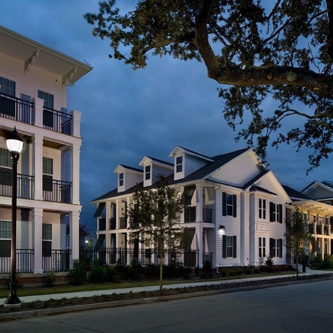 Columbia Parc after dark.  #jhparch #sustainable #architecture #affordable #awardwinning #columbiaresidential