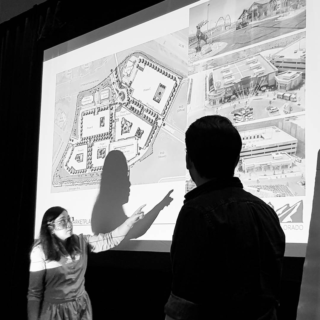 @mejopang and Anthony presenting mixed-use work in Colorado.
