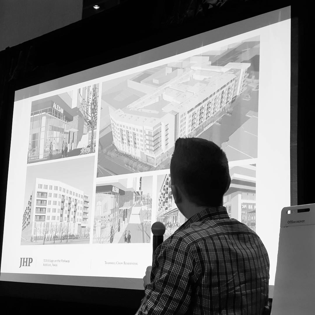 @emersonbiggins Presenting a greyfield infill high density project.  #jhparch