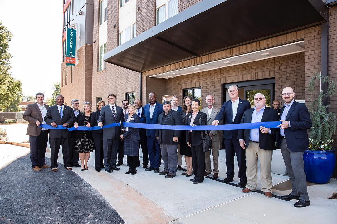 Columbia Senior Residences at Decatur East Ribbon Cutting last week. Thank you to our team who made it all happen! #jhparch #urbandesign #affordablehousing #ribboncutting